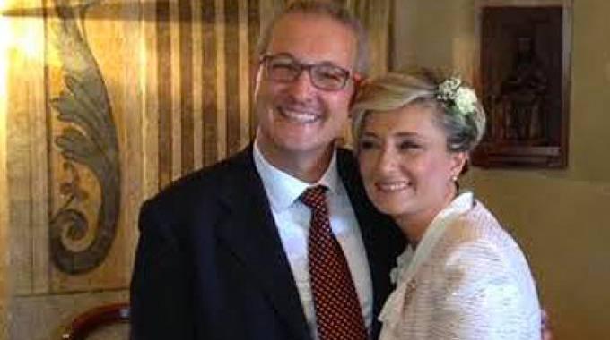 Maurizio Brachino e signora. Il medico oculista è parente di papa Bergoglio